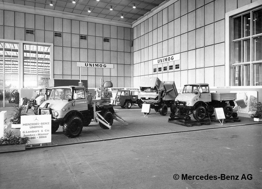 Garage Lambert salon auto 1973 Bruxelles Unimog 406