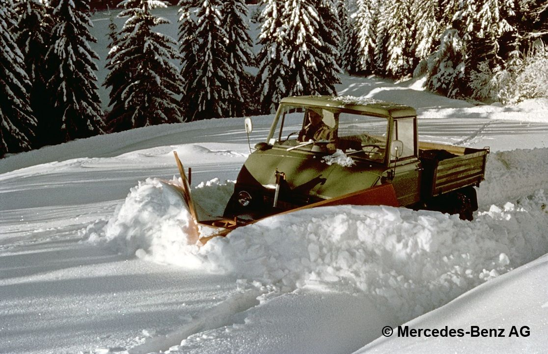 unimog 406 chasse neige