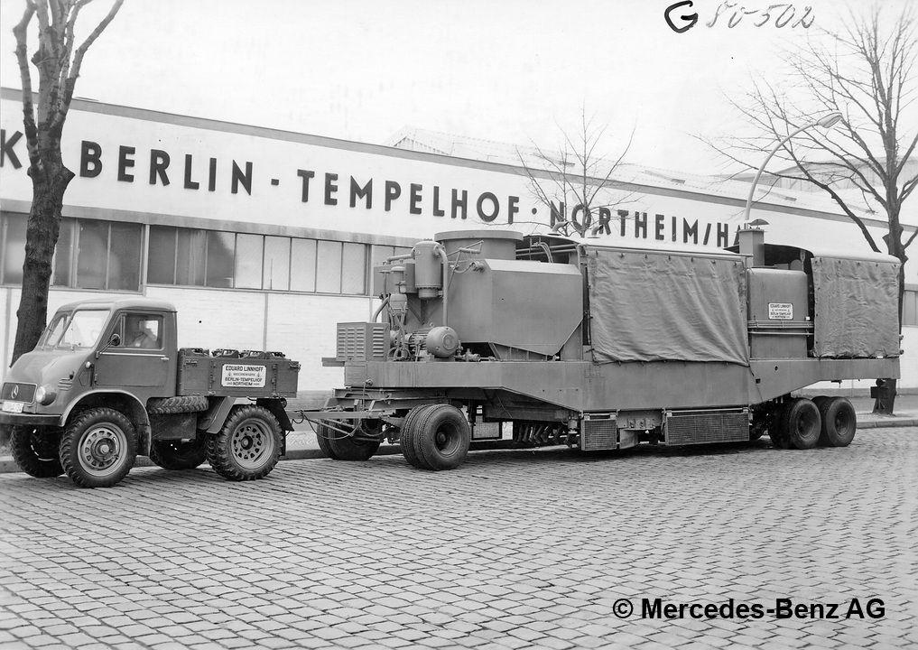 unimog u25, model series 401 used as a tractor unit