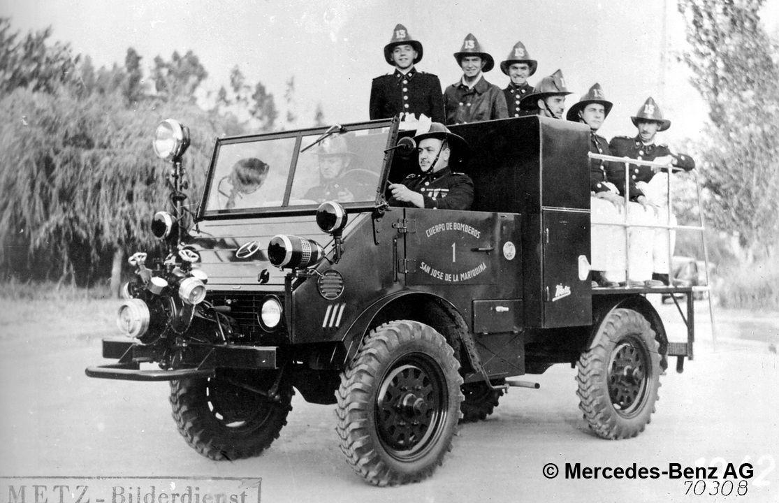 unimog u25 model series 402 camion pompier