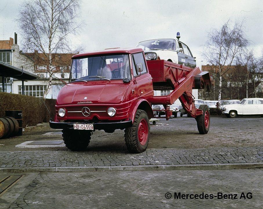 unimog série 416 triebkopf avec carrosserie de chariot élévateur ruthmann
